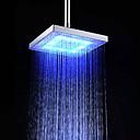abordables Cabezas de Ducha-Moderno Ducha lluvia Cromo Característica - Efecto lluvia Ecológica LED, Alcachofa de la ducha