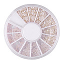 cheap Rhinestone & Decorations-mixed size semicircle white pearl nail art decorations