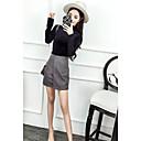 abordables Pendientes-Mujer Blusa Conjunto - Un Color Falda