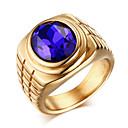 baratos Anéis para Homens-Homens Anel de declaração Anel - Zircão, Aço Titânio Vintage, Fashion 8 / 9 / 10 / 11 Dourado / Prata Para Diário Casual
