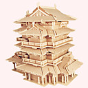 cheap Wooden Puzzles-Wooden Puzzle Wooden Model Famous buildings Chinese Architecture House Professional Level Wooden 1 pcs Kid's Adults' Boys' Girls' Toy Gift