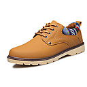 cheap Men's Oxfords-Men's Shoes PU Spring / Fall Comfort / Slouch Boots Oxfords Walking Shoes Black / Navy Blue / Earth Yellow
