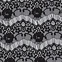 abordables Tie Bar-Negro Blanco Tela de Encaje Mujer Pasador  -