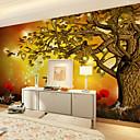 billige Vegglamper-Veggmaleri Lerret Tapetsering - selvklebende nødvendig Blomstret / Art Deco / 3D
