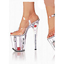 cheap Women's Sandals-Women's Shoes PVC(Polyvinyl chloride) Summer / Fall Comfort / Novelty / Club Shoes Sandals Walking Shoes Stiletto Heel Peep Toe Buckle