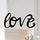 baratos Decorações para Casamento-Acessório para Bolo Acrílico Decorações do casamento Aniversário / Festa de Casamento / Dia Dos Namorados Primavera / Verão / Outono