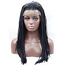 رخيصةأون أساور-الاصطناعية الباروكات مستقيم أسود شعر مستعار صناعي أسود شعر مستعار دانتيل في الأمام أسود