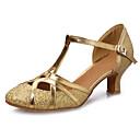 preiswerte Schuhe für Zeitgenössischen Tanz-Damen Schuhe für den lateinamerikanischen Tanz Paillette / Lackleder / Kunstleder Sandalen Schnalle Kubanischer Absatz Maßfertigung