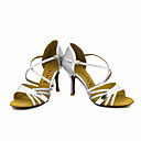 cheap Latin Shoes-Women's Latin Shoes / Salsa Shoes Sparkling Glitter Sandal / Heel Buckle / Ribbon Tie Customized Heel Customizable Dance Shoes Silver / Red / Blue / Performance / Professional