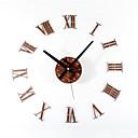 baratos Bricolage Relógios de Parede-Moderno/Contemporâneo Retro Acrílico Madeira Metal Redonda Inovador Interior/Exterior,AA