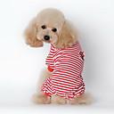 abordables Ropa para Perro-Perro Pijamas Ropa para Perro Rayas Negro Rojo Azul Algodón Disfraz Para mascotas Hombre Mujer Casual/Diario