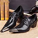 זול נעלי בד ומוקסינים לגברים-בגדי ריקוד גברים נעליים פורמליות עור נאפה Leather אביב / סתיו נוחות נעלי אוקספורד שחור