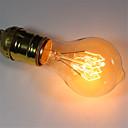 preiswerte Glühlampen-1pc 40 W E26 / E27 A60(A19) Warmes Weiß 2300 k Retro / Abblendbar / Dekorativ Glühbirne Vintage Edison Glühbirne 220-240 V