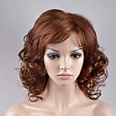 abordables Pelucas Sintéticas de Malla-Pelucas sintéticas Ondulado Amplio Rubio Pelo sintético Rubio Peluca Mujer Corta Sin Tapa