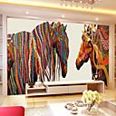 baratos Papel de Parede-Art Deco 3D Decoração para casa Moderna Revestimento de paredes, Tela de pintura Material adesivo necessário Mural, Cobertura para