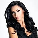 abordables Pelucas Sintéticas de Malla-Pelucas sintéticas Rizado Corte asimétrico Pelo sintético Entradas Naturales Negro Peluca Mujer Larga Sin Tapa Negro