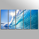 cheap Stretched Canvas Prints-Rolled Canvas Prints Landscape Modern, Five Panels Canvas Vertical Print Wall Decor Home Decoration