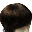 رخيصةأون لمبات LED-6 * الرجال 8INCH الشعر المستعار نوعية جيدة عذراء الإنسان مباشرة الشعر