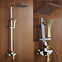 preiswerte Duscharmaturen-Duscharmaturen - Moderne Chrom Wandmontage Keramisches Ventil / Messing