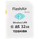 baratos Cartões de Memória-Toshiba 32GB Cartão SD Wifi cartão de memória class10 FlashAir