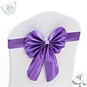 billige Halloweenprodukter-10pcs stretch bowknots stolpe for bryllupsstoler tilbake dekorasjoner elastiske buer for hotellstol cover dekorative band