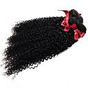זול תוספות שיער בגוון טבעי-שיער ברזיאלי מתולתל / Kinky Curly שיער בתולי טווה שיער אדם 3 חבילות 8-28 אִינְטשׁ שוזרת שיער אנושי תוספות שיער אדם / קינקי קרלי