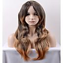 billige Syntetiske parykker uten hette-Syntetiske parykker Løse bølger Syntetisk hår Brun Parykk Dame Lang / Veldig lang Lokkløs Svart / Honning Blond