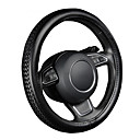 cheap DIY Car Interiors-AUTOYOUTH PU Leather Steering Wheel Cover Black Lychee Pattern with Anti-slip Braiding Style M Size fits 38cm/15 Diameter