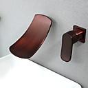 Χαμηλού Κόστους Βρύσες Νιπτήρα Μπάνιου-Μπάνιο βρύση νεροχύτη - Καταρράκτης / Εκτεταμένο Λαδωμένο Μπρούντζινο Επιτοίχιες Ενιαία Χειριστείτε μια τρύπα / Ορείχαλκος