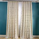 preiswerte Fenstervorhänge-Schlaufen für Gardinenstange Ösen Schlaufen Zweifach gefaltet plissiert zwei Panele Window Treatment Neoklassisch Landhaus Stil, Stickerei