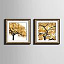 baratos Impressões-Quadros Emoldurados Conjunto Emoldurado Floral/Botânico Arte de Parede, PVC Material com frame Decoração para casa Arte Emoldurada Sala