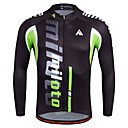 cheap Cycling Jersey & Shorts / Pants Sets-Miloto Men's Long Sleeve Cycling Jersey Stripes Bike Shirt Sweatshirt Jersey Breathable Quick Dry Reflective Strips Sports 100% Polyester Mountain Bike MTB Road Bike Cycling Clothing Apparel