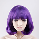 cheap Synthetic Capless Wigs-Synthetic Wig Straight Synthetic Hair Purple Wig Women's Short Capless