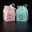 baratos Suporte para Lembrancinhas-Cubóide Papel Pérola Suportes para Lembrancinhas com Fitas Caixas de Ofertas