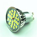 baratos Lâmpadas LED de Foco-4W 350lm GU10 Lâmpadas de Foco de LED MR16 24 Contas LED SMD 5050 Regulável Branco Quente Branco Frio 220V 85-265V