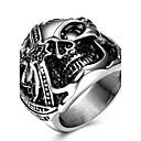 preiswerte Moderinge-Statement-Ring / Ring - Titanstahl Totenkopf Personalisiert, Einzigartiges Design, Retro 6 / 7 / 8 Silber Für Hochzeit / Party / Besondere Anlässe