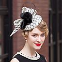 Χαμηλού Κόστους Αξεσουάρ κεφαλής για πάρτι-λινά φτερό βελούδο net fascinators καπέλα headpiece κομψό στυλ