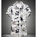 abordables Relojes de Hombre-Hombre Simple Algodón Camisa Estampado / Manga Corta