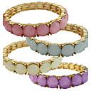 baratos Pulseiras-Opala Pulseiras Strand - Opala Amigos Vintage, Fashion Pulseiras Roxo / Azul / Rosa claro Para Casamento / Aniversário / Presente