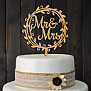cheap Cake Toppers-Wedding / Birthday / Wedding Party Wood Mixed Material Wedding Decorations Classic Theme Winter Spring Summer Fall All Seasons