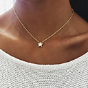 cheap Necklaces-Women's Pendant Necklace - Star Unique Design, Dangling Style Gold, Silver Necklace For Birthday, Engagement, Daily