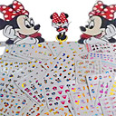 cheap Nail Stickers-1set 77pcs mixed lovely colorful cartoon image expression mickey design nail art watermark sticker water transfer decals nail decoration