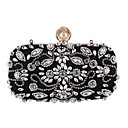 cheap Wedding Wraps-Women's Bags Polyester Evening Bag Crystal / Rhinestone Black / Almond