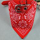 preiswerte Hundekleidung-Katze Hund Halsbänder Regolabile / Einziehbar Streifen Stoff Rot Blau