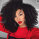 cheap Synthetic Capless Wigs-Synthetic Lace Front Wig Kinky Curly Layered Haircut Synthetic Hair Natural Hairline / Side Part / African American Wig Natural Black Wig Women's Medium Length Lace Front