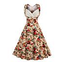 cheap Tap Shoes-Women's Plus Size Going out Vintage / Street chic Cotton A Line Dress - Floral Sweetheart Neckline / Summer / Floral Patterns