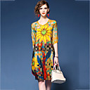 cheap Bakeware-Women's Going out Chiffon Dress - Floral Print V Neck / Summer / Loose
