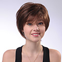 cheap Accessories For GoPro-chic short natural straight brown capless human hair wig for girls and women 2017