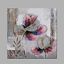 cheap People Paintings-Oil Painting Hand Painted - Floral / Botanical Classic Modern Canvas