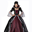 billige Hundeklær-Queen Cosplay Kostumer Dame Karneval Festival / høytid Halloween-kostymer Rød+Svart Ensfarget